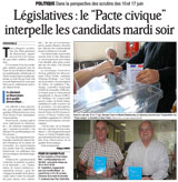Le ''pacte civique'' interpelle les candidats