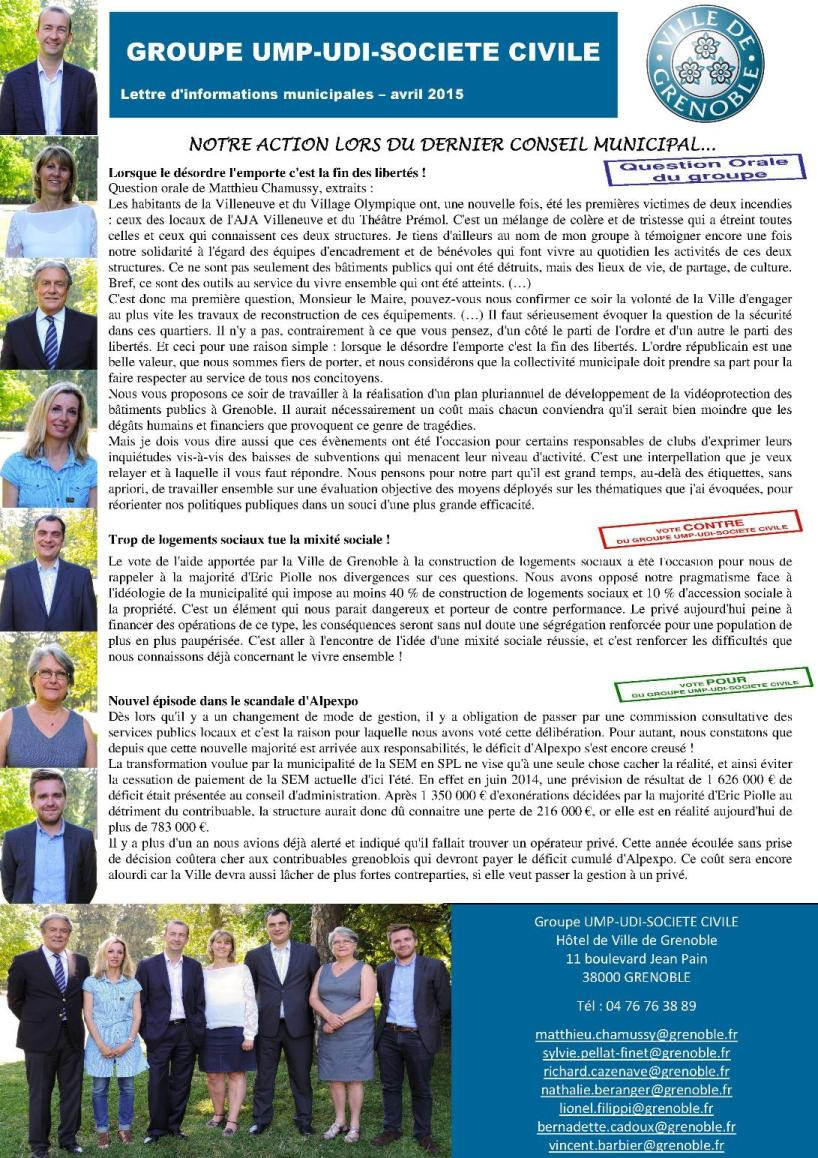 texte newsletter avril 2015